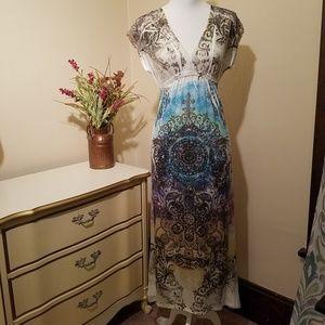 Urban X Short Sleeve Maxi Dress Size Small